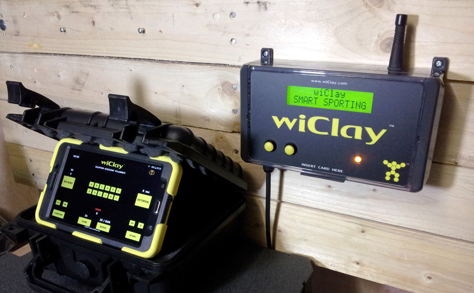 wiClay Smart Sporting target counting system with Sporting apps