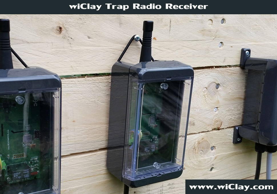 wiClay Trap release wireless radio system
